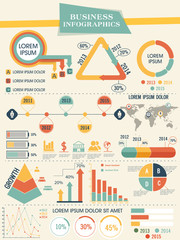 Big set of business infographics for corporate sector.