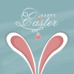 Happy Easter celebration greeting card design.