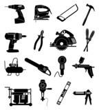 Industrial tools icons set