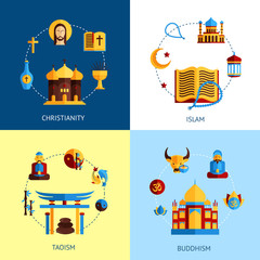 Religion Design Concept Set