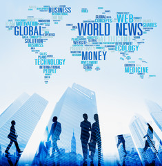 World News Globalization Advertising Event Media Concept