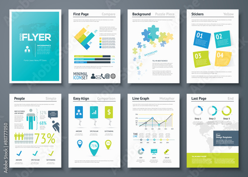 Infographic flyer templates and business vector elements - 80777050