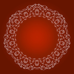border ornament on a red background