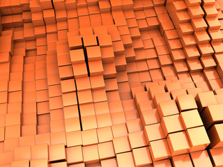 orange blocks background