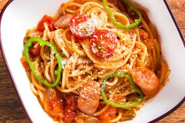 パスタ トマトソース ナポリタン Spaghetti tomato source