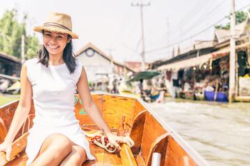 Woman at Floating Market,Bangkok