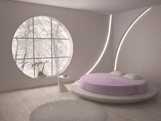 Round window and the bed