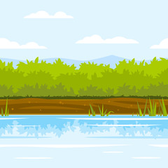 Bushes Game Background