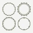 Set of 4 round vector frames
