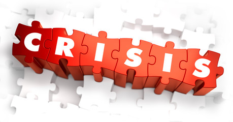 Crisis - Text on Red Puzzles.
