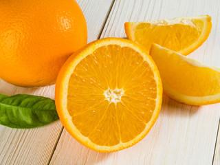 Oranges cut set
