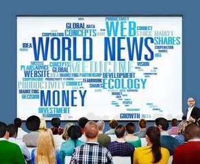 World News Globalization Advertising Media Information Concept