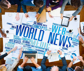 World News Globalization Advertising Media Infomation Concept