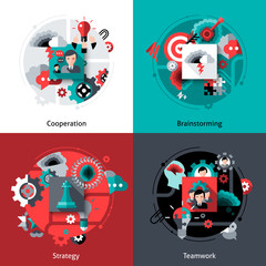 Brainstorming And Teamwork Set