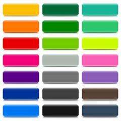 Set of 21 long rectangular buttons