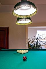 The billiard hall on a mansard floor of the guest house