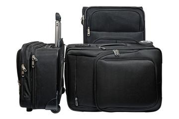 Black travel luggage set
