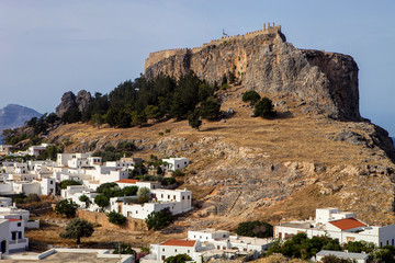 Lindos town with hill forts, Rodos, Greece