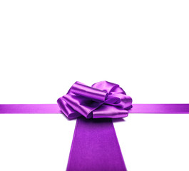 Violet ribbons with bow