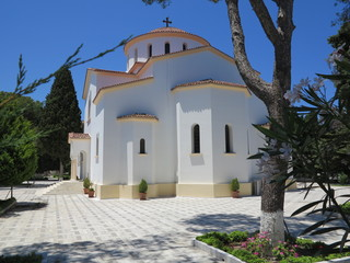 Orthodox church in the mountains of Rhodes, Greece