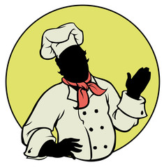 silhouette Chef - Illustration