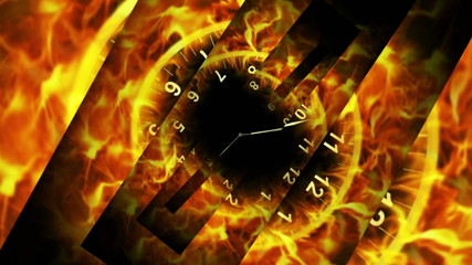 Fiery Clock and Open Lines, Time Travel Concept