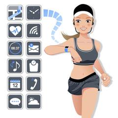 テクノロジー スマート ウォッチ コンセプト Smart watch concept