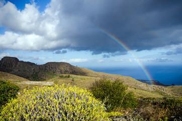 Kanaren: Regenbogen über Südküste von La Gomera :)