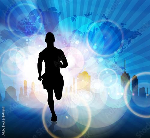Fototapeta Marathon runner
