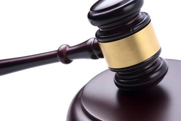 judge hammer on isolated background