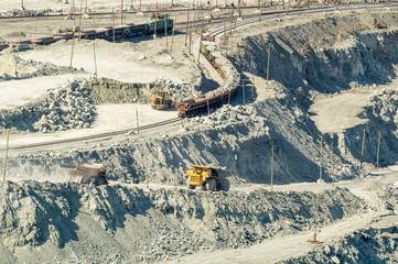 карьер по добыче полезных ископаемых в Асбесте Россия