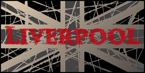 Liverpool Vintage Worn UK Flag 3D