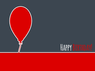 Simple birthday card with balloon