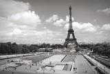 Trocadero, Paris. Black and white.