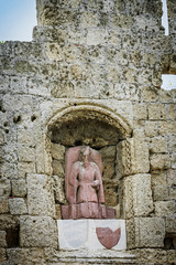 Crypt and statue  in Rhodes
