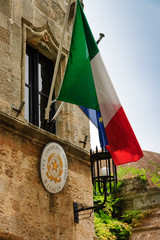 Italy flag and emblem
