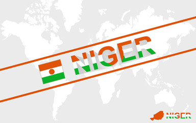 Niger map flag and text illustration