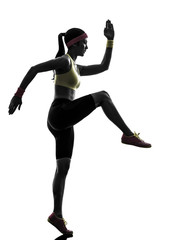 woman exercising fitness workout  silhouette