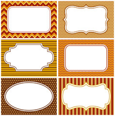 Decorative frames with copy spaces and  autumn colors