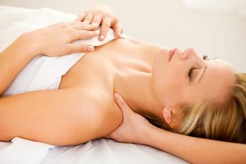 Massage: Shoulders Getting Massaged