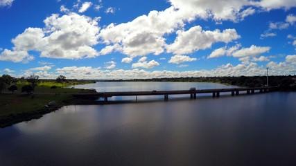 Aerial View from the Bridge of the Lago Paranoa in Brasilia