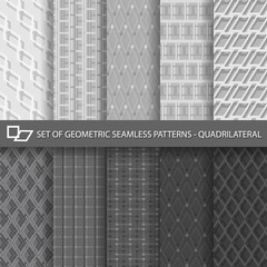 Set of Geometric Seamless Patterns-Quadrilateral