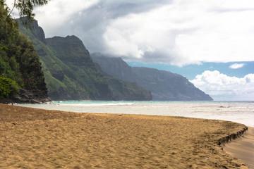 Clouds over the beach, Kauai