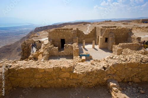 Leinwanddruck Bild Masada in Israel