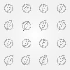 Lightning icons or emblems