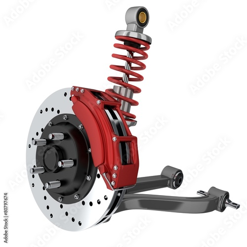 Leinwanddruck Bild Car suspension