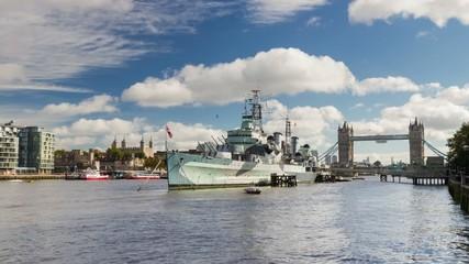 HD time lapse, HMS Belfast, London