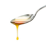 spoon with honey drop