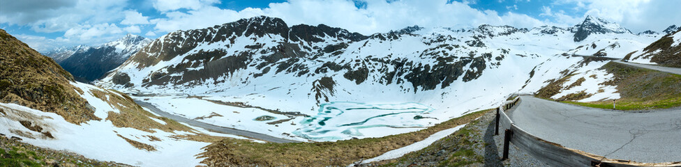 Summer Alps mountain panorama (Austria).