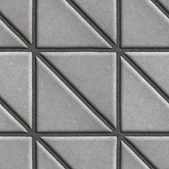 Gray Paving Slabs - Square consisting of Triangles.